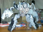 The Leader Megatron figure, with substantially upgraded articulation.
